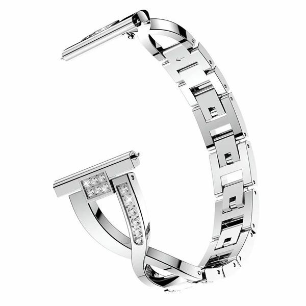 三星 Galaxy Watch Active 交叉鑲鑽錶帶 三星錶帶 金屬錶帶 鑲鑽表帶