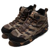 Merrell 戶外鞋 Moab 2 Mid GTX 咖啡 黑 Vibram大底 健行 登山鞋 男鞋 【PUMP306】 ML06057