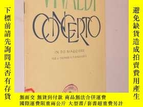二手書博民逛書店Vivaldi罕見Concerto in do maggiore 維瓦爾第 C大調小號協奏曲 改編為小號和鋼琴(1