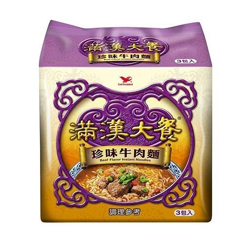 統一滿漢大餐珍味牛肉麵173gx3入【愛買】