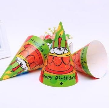 生日帽-蛋糕版/頂 ~~求婚 派對 跨年 耶誕夜 尾牙道具~~