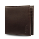 POLO RALPH LAUREN經典壓印馬球LOGO素面皮革短夾(咖啡色)780215-3