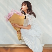 連身裙(兩件套)-優雅蕾絲立領百摺女連衣裙73rx6[巴黎精品]