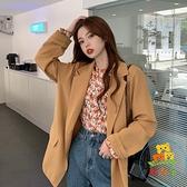 西裝外套女秋季韓版英倫風寬鬆百搭小西服潮 樂淘淘