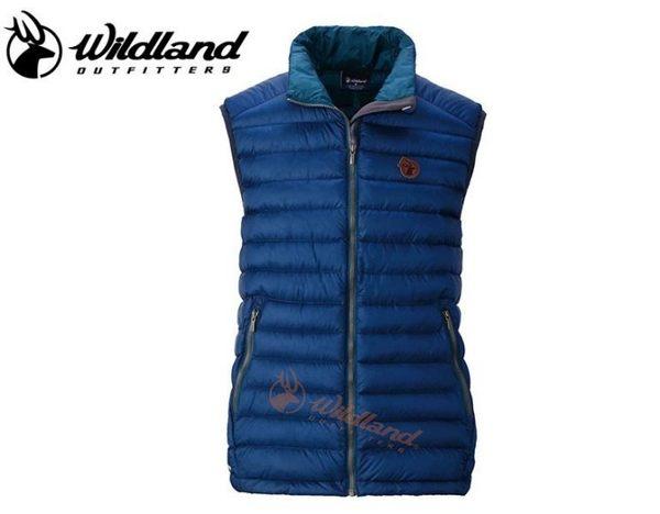 丹大戶外【Wildland】荒野 男款700FP輕量保暖羽絨背心 0A32172-72 深藍色