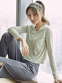 網紅健身服女寬鬆套頭跑步秋冬薄款速幹上衣瑜伽運動t恤長袖罩衫 錢夫人小鋪