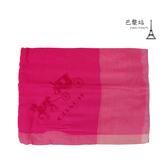 【巴黎站二手名牌專賣店】*現貨*COACH 真品*經典馬車圖樣 桃紅色柔軟圍巾 (134x70)
