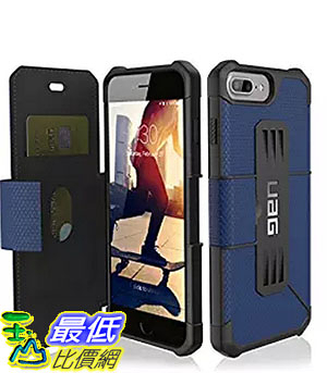 [美國直購] 藍色URBAN ARMOR GEAR UAG Folio iPhone 8 Plus /7 Plus /6s Plus [5.5-inch screen]  軍規手機 保護殼_z01