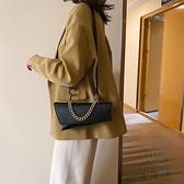 鏈條包高級感腋下包包女百搭斜背包【小酒窩服飾】