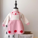 洋裝女童裙子小童女孩白雪公主兒童針織裙洋氣毛衣連身衣裙潮【小獅子】