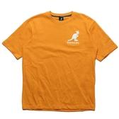 KANGOL 短袖 短T 黃 土黃 胸口 大LOGO 袋鼠 棉 男 (布魯克林) 6021101462
