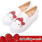 HELLO KITTY X Ann'S毛茸茸不對稱彩色刺繡厚底懶人鞋