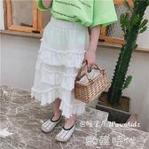 韓版夏款新裝兒童甜美淑女百搭女童半身裙子長裙蛋糕裙 ⊱歐韓時代⊰