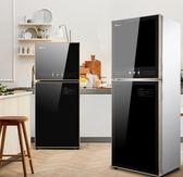 220V電壓消毒櫃家用立式小型不銹鋼雙門碗櫃迷你廚房餐具高溫消毒台式-享家生活館 YTL