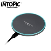 INTOPIC廣鼎 鋁合金無線快速充電板(鐵灰)WCP-05-GR