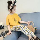 女童夏裝套裝2018新款時髦正韓中大兒童洋氣短袖防蚊褲兩件套潮【明天恢復原價】