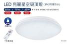 亮博士LED亮麗星空吸頂燈60W 8段調光調色/IP42防塵防水 5-6坪/書房/客廳適用