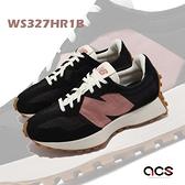 New Balance 休閒鞋 327 女鞋 黑 粉 焦糖底 大N 紐巴倫 NB【ACS】 WS327HR1-B