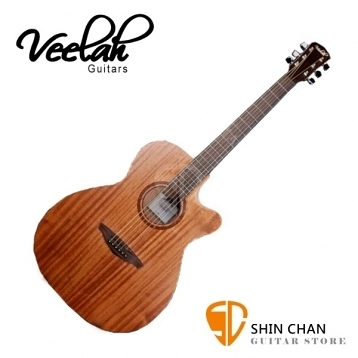Veelah吉他 V1-OMMC 全桃花心木/OM桶身/可切角/面單板-附贈原廠木吉他袋/V1專用(全配件)台灣公司貨