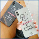 蘋果 iPhone XS MAX XR iPhoneX i8 Plus i7 Plus 愛的標語 手機殼 全包邊 掛繩 軟殼 保護殼