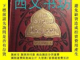 二手書博民逛書店【罕見】1894年《英格蘭歌謠集》The Songs of En
