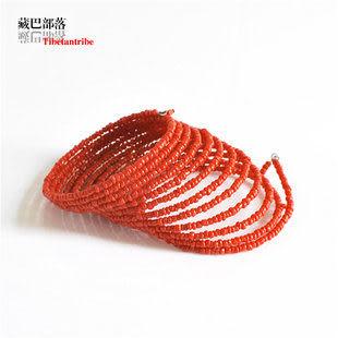 紅珊瑚石多股手圈