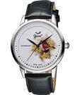 Ogival 愛其華 花繪經典彩繪機械腕錶-花卉版 1929-24.7AGS皮