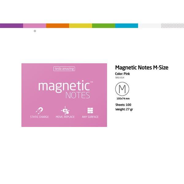 磁力便利貼 Magnetic Notes M-Size粉紅【Tesla Amazing】