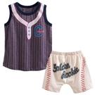 童裝 套裝 背心 屁屁褲 運動風-01棒球【57152】