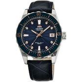 【台南 時代鐘錶 ORIENT】東方錶 SPORT系列 百米潛水機械錶 FAC0A004D 皮帶 深藍 39mm