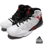 Adidas 新竹皇家 Crazy Heat 黑白 網布 不對稱鞋面 運動 籃球鞋 男款 No.A9171