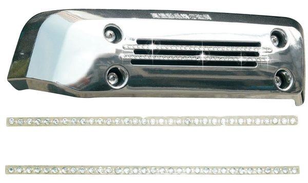 光陽原廠精品 MANY排氣管護蓋水鑽條貼紙