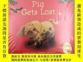二手書博民逛書店Usborne罕見Farmyard Tales Pig Gets