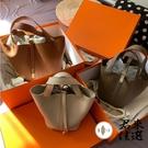 手提水桶包包女包菜籃子包手繪涂鴉包【君來家選】