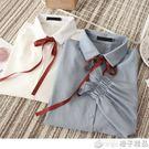 胖MM秋裝加肥加大碼寬鬆長袖女裝新款2018韓版雪紡襯衣襯衫200斤 橙子精品