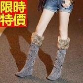 雪靴-加絨保暖高筒平底女長靴3色64aa27【巴黎精品】