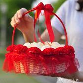 結婚花童假花現場韓式婚禮手提花瓣花籃婚慶撒花籃子婚慶陪嫁用品 igo娜娜小屋