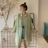 防曬衣很仙的防曬衣中長款糖果色學生洋氣外套2019夏季新款薄款空【出貨快】