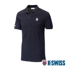 K-SWISS Vintage Polo短袖Polo衫-男-黑