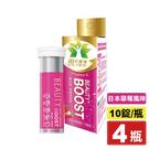 +BEAUTY BOOST 博世特 亮顏發泡錠 (日本草莓風味) 10錠X4瓶 專品藥局 【2013622】