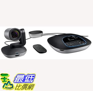 [7美國直購] Logitech Group HD Video and Audio Conferencing System for Big Meeting  B01B4SNM92