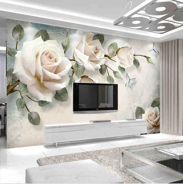 8D電視背景墻壁紙5D立體客廳大氣浮雕影視墻布簡約LG-585910