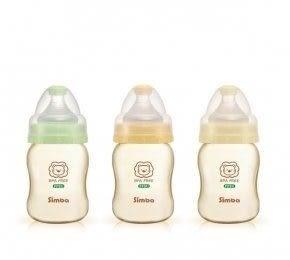 專品藥局 小獅王Simba PPSU寬口葫蘆小奶瓶 200ml 三色可選 (橘/綠/黃) S6186【2006387】