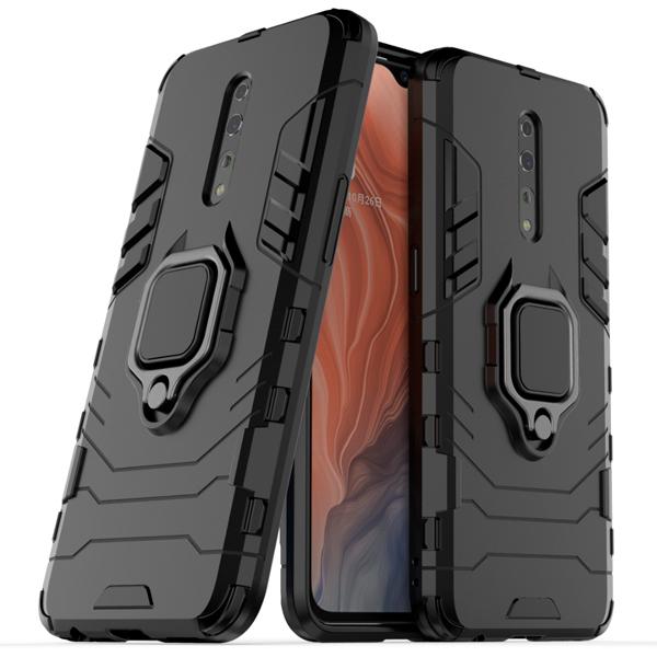 OPPO Reno Z 手機殼 指環鋼鐵俠 防摔 支架 保護殼 全包邊