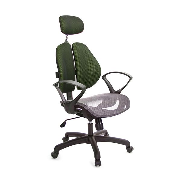 GXG 高背網座 雙背椅 (D字扶手) 型號2802 EA4