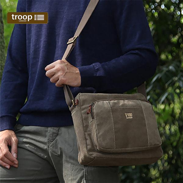 【TROOP】經典品格CLASSIC單肩包/TRP0234BN(棕色)