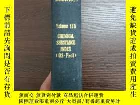 二手書博民逛書店CHEMICAL罕見ABSTRACTS Vol.115 CHEMICAL SUBSTANCE INDEX(OS-P