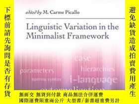 二手書博民逛書店Linguistic罕見Variation In A Minimalist FrameworkY364682