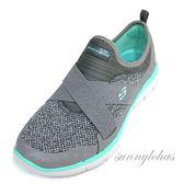 6折 SKECHERS (女)訓練鞋 Flex Appeal 2.0 運動 繃帶鞋 套入式-12752GYTQ灰綠  [陽光樂活]