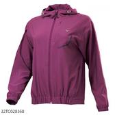MIZUNO 女裝 外套 連帽 套裝 平織 抗紫外線 4WAY彈性 透氣 紫【運動世界】32TC028368